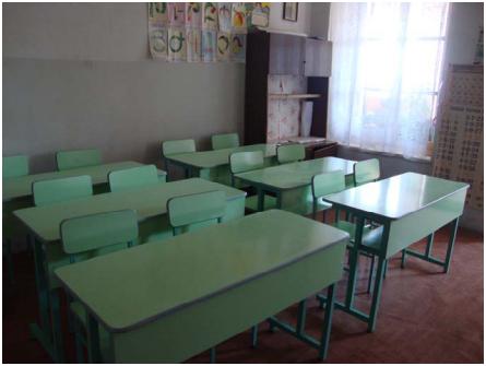 New school desks and chairs in school #4 in Ghapan, Sunik region (2012)