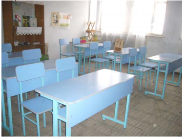 New student desks in Sooser village school in Aragatzotn region (2011)