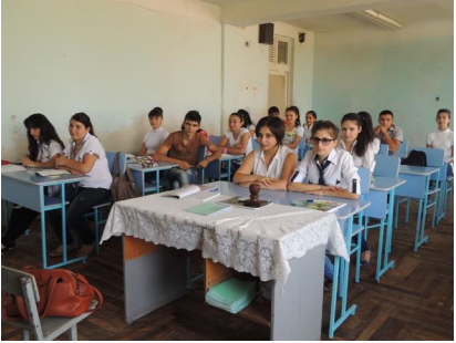 New student desks in Metzamor #2 School, Armavir Marz